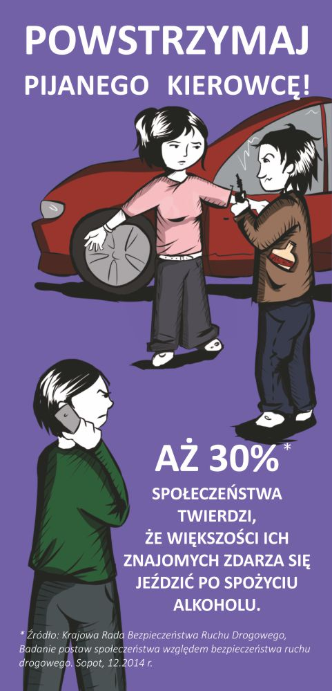 """Ilustracja do informacji: Kampania """"Myślę i jeżdżę trzeźwo"""""""