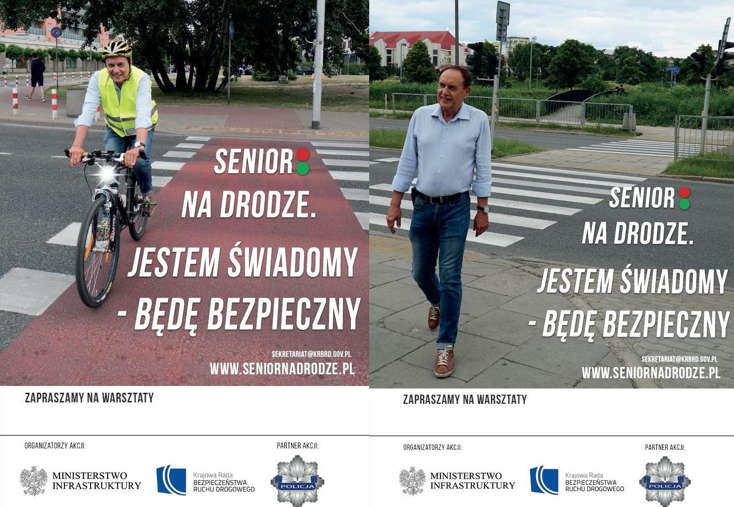 Ilustracja do informacji: Senior na drodze. Jestem świadomy –...